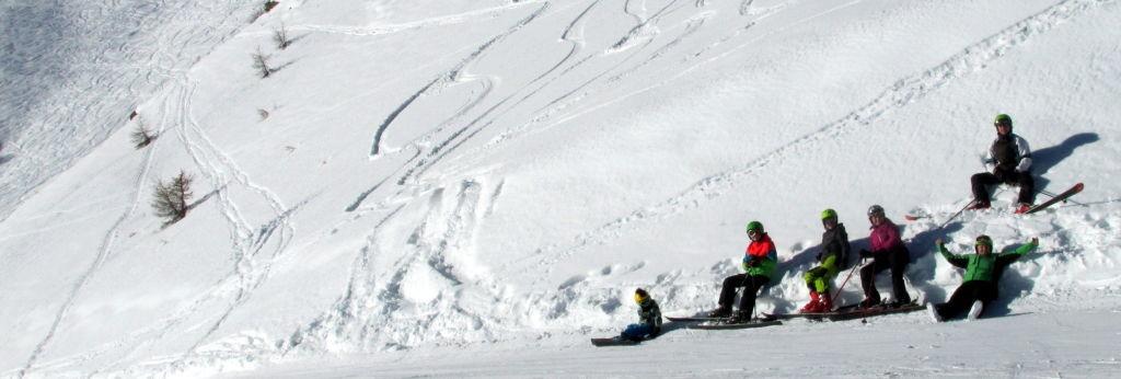 lyžovačka ve francouzských Alpách